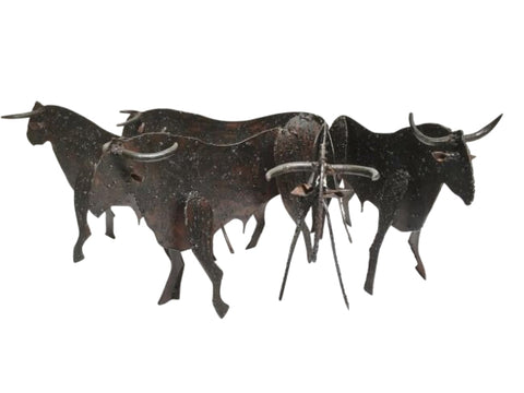 Herd of Bulls Very Rustic Plasma Cut Iron Ornamental Character Piece - Home of Temptations Interior Design Furniture Decor & Gifts http://www.hotdesign.co.nz