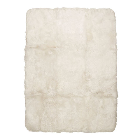 Ivory Rectangle Sheepskin Floor Rug 2.4m - Comfort & Texture to Armchairs, Sofas & Benches