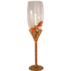 Exquisite Heirloom Dragonfly Champagne Glasses With Diamantés (Set of Two)