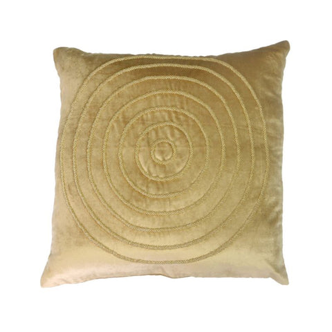 Chrissie Gold Velvet Abstract Lounge / Chair Cushion 45cm