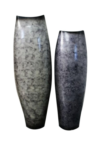 Ceramic Jarron Boco Large Grey Luminous Urn