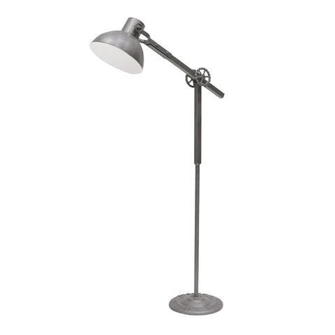 Bank Industrial Chic Floor Lamp Light - Grey