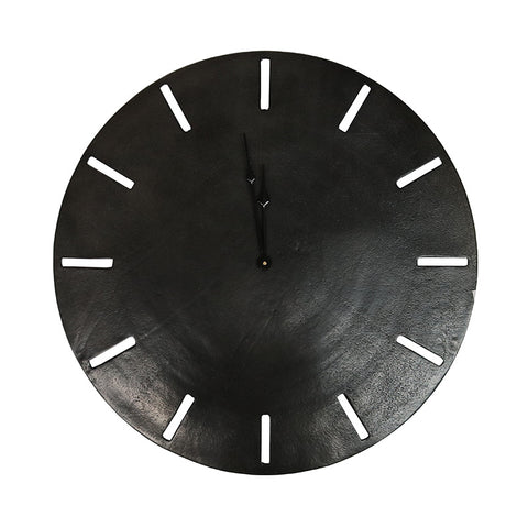 Aluminium Songo Obsidian Clock Interior Design Decorative Showpiece