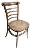 European Ladder Back Style Elmwood Dining Chair - Antiqued Wash