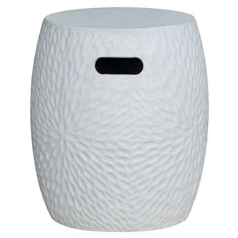 Florial White Textured Black Side Table / Seat Stool / Foot Stool