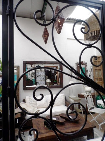 Ornate Serville Hand Forged Iron Gates Exterior or Interior Zone Divider