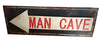 Garage Vintage Rustic Arrow Man Cave Metal Wall Art Sign