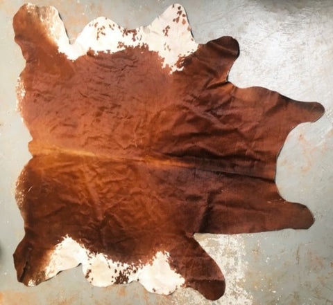 Cowhide Floor Rug Authentic Mexican - Three Different Tan & White Options