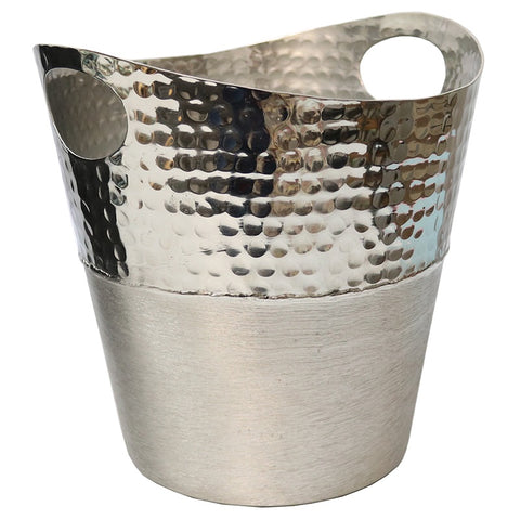 Aluminium Curve Interior Design Wine Bucket Showpiece Ornament