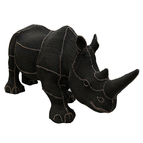 Beaded Black Rhino Taste of Africa Ornament