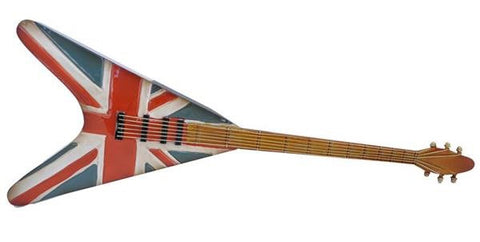 Union Jack Guitar Metal Wall Art Hanging - Home of Temptations Interior Design Furniture Decor & Gifts http://www.hotdesign.co.nz