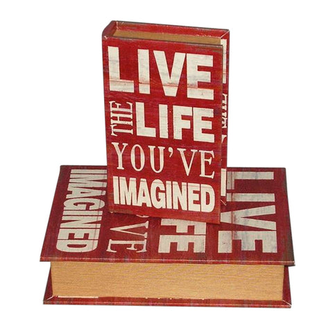 Gorgeous Shabby Chic 'Live The Life' Storage Boxes