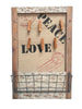 Decorative Memo Pin, Peg & Letter Rack Storage Board