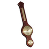 Large Barometer Darker Tan Wood Wall Hanging With Thermometer & Hygrometer Gauges