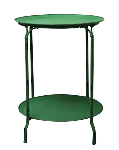 Industrial Side Table / Bistro Table Shabby Chic Metal With Double Tier