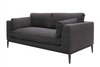 Relaxed Black Tyson Comfortably Luxurious Modern Sofa / Lounge 3 Seater