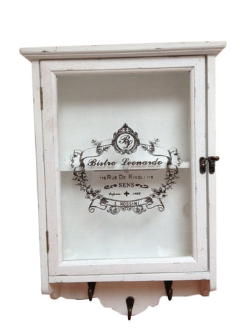 Country Chic Medicine Cabinet With Hooks Shabby Chic Distressed Wood - Home of Temptations Interior Design Furniture Decor & Gifts http://www.hotdesign.co.nz