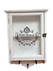 Country Chic Medicine Cabinet With Hooks Shabby Chic Distressed Wood