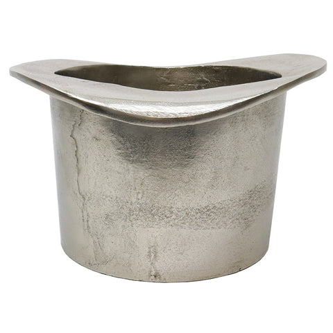 Aluminium Bowler Hat Wine Cooler Tub Rustic Chic - Great Gift / Home Décor