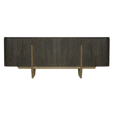 Devore Luxury Oak Wood & Metal Entertainment Unit / Sideboard Buffet