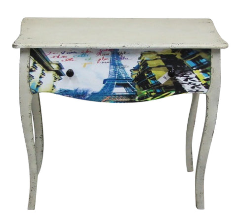 Villa Parisian Eiffel Tower Dressing Table Shabby Chic Distressed