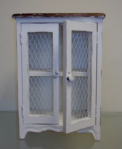 French Country Chic Medicine Cabinet Shabby Chic Distressed Wood