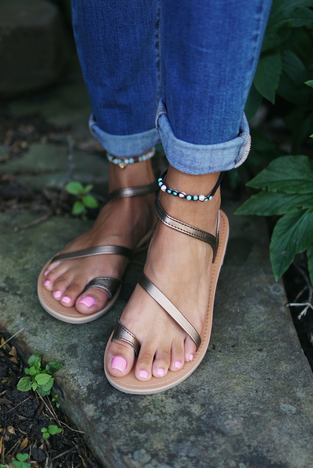 Metalic Strappy Sandal