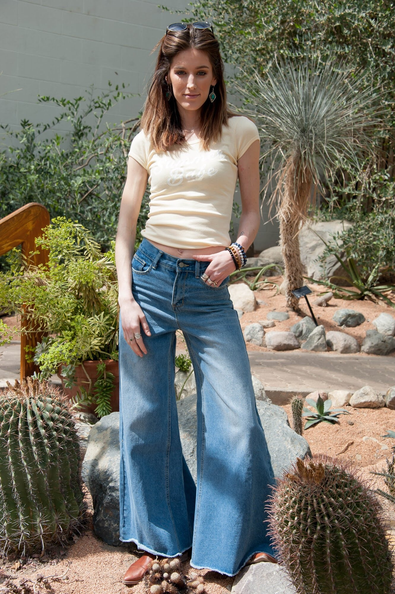 Highwaisted Wide Leg Flare Jeans