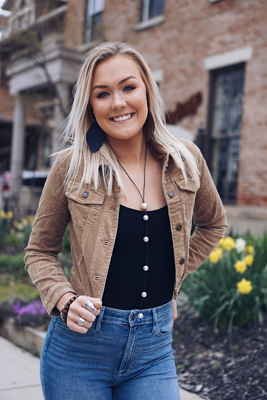 Crop Corduroy Jacket