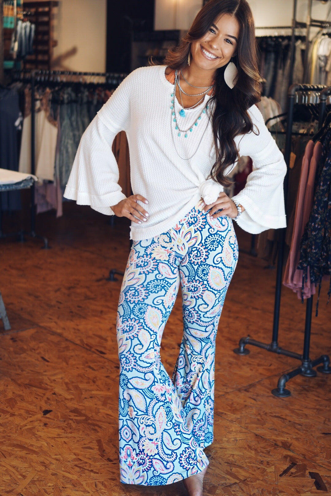 Paisley Print Bell Bottoms