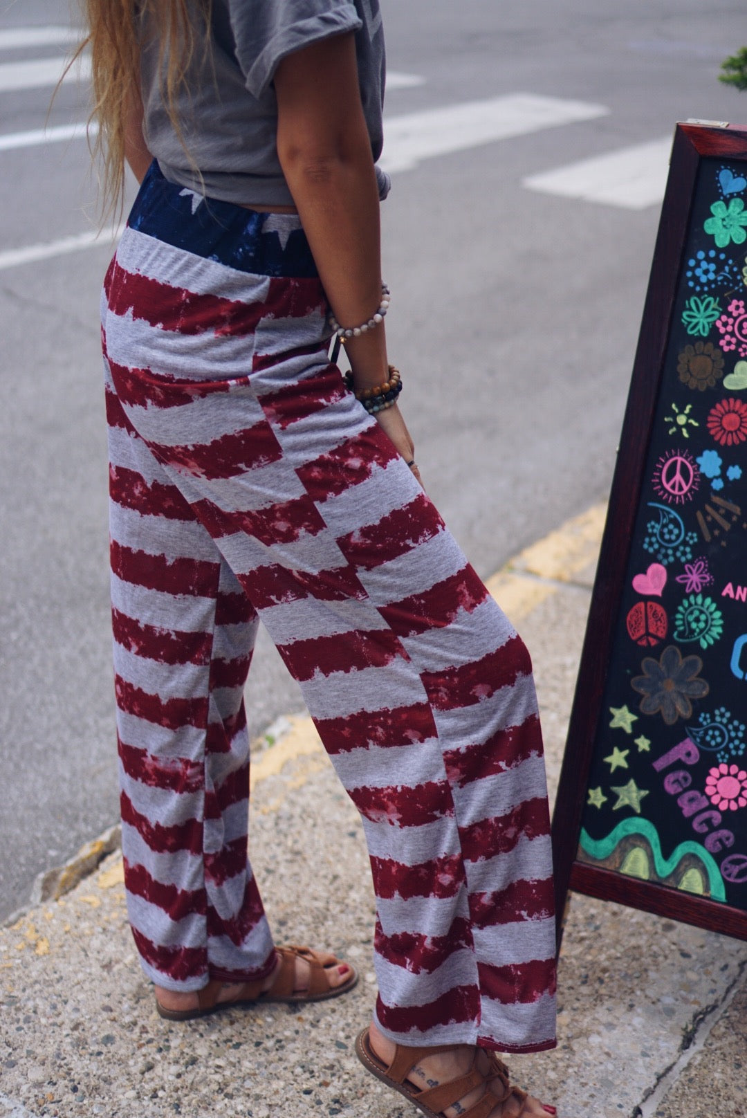 American Flag Themed Sweatpants