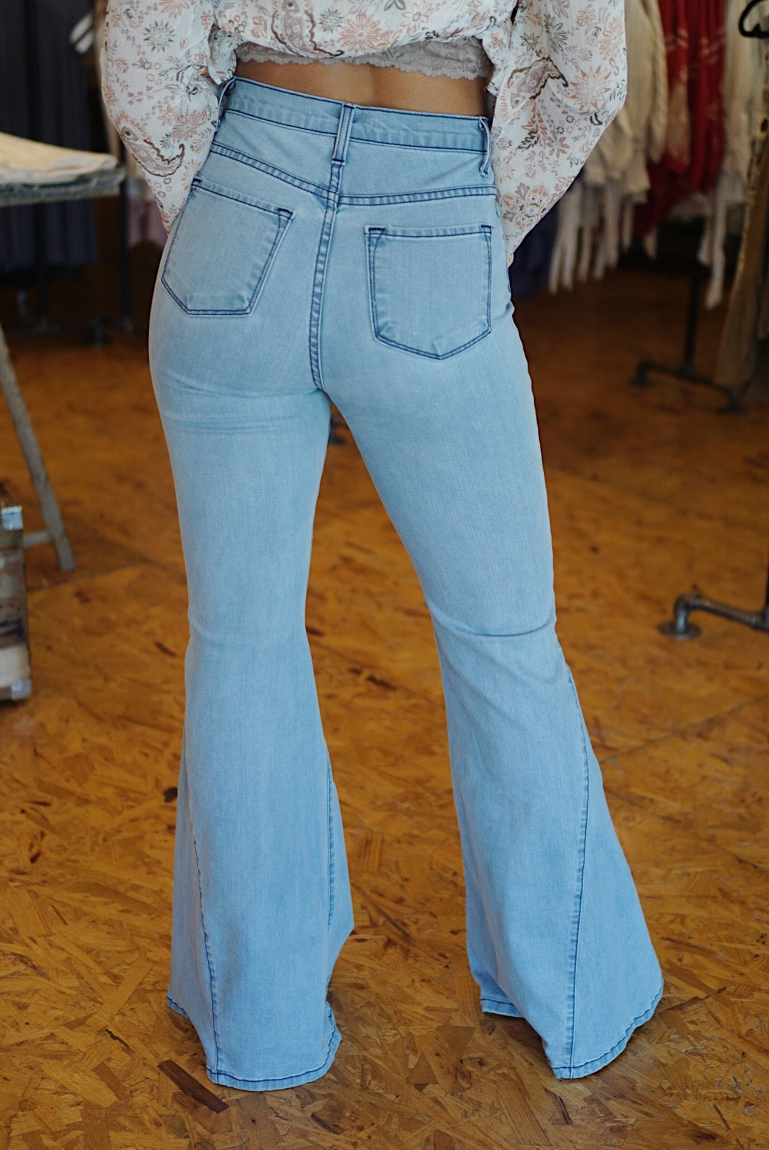 Throw Back Bell Bottom Jeans