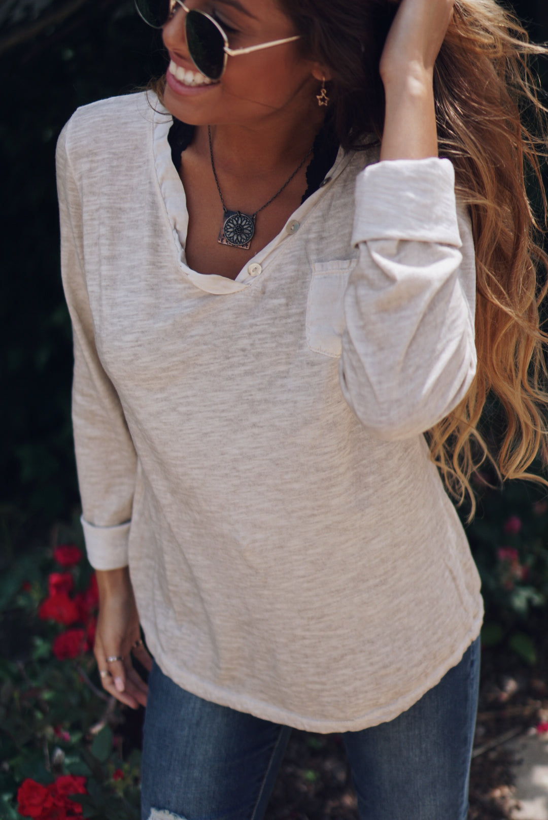 Casual Long Sleeve with Pocket