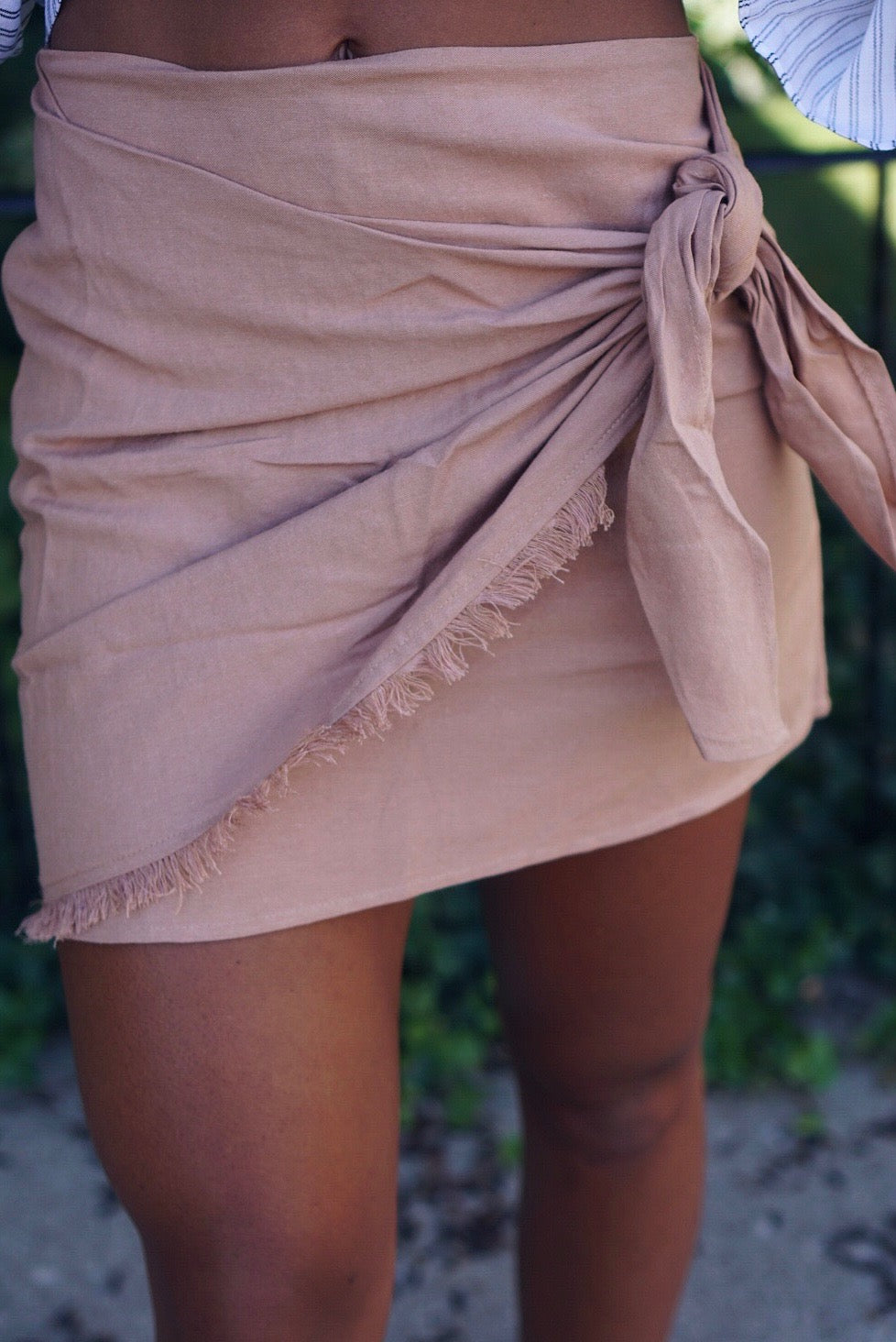 Tan Wrap Skirt