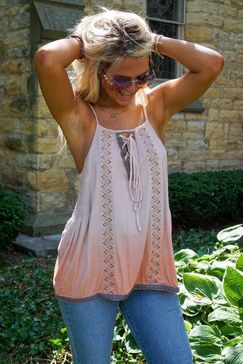Bohemian Dream Rose Tank