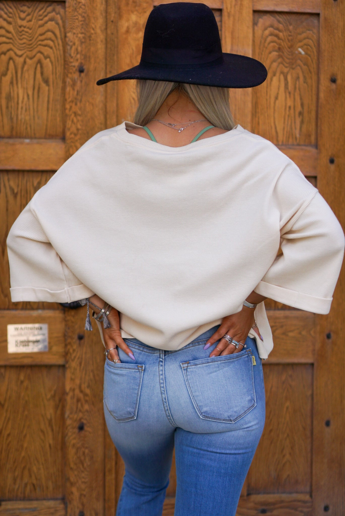 Music City Vanilla Waffle Knit Top