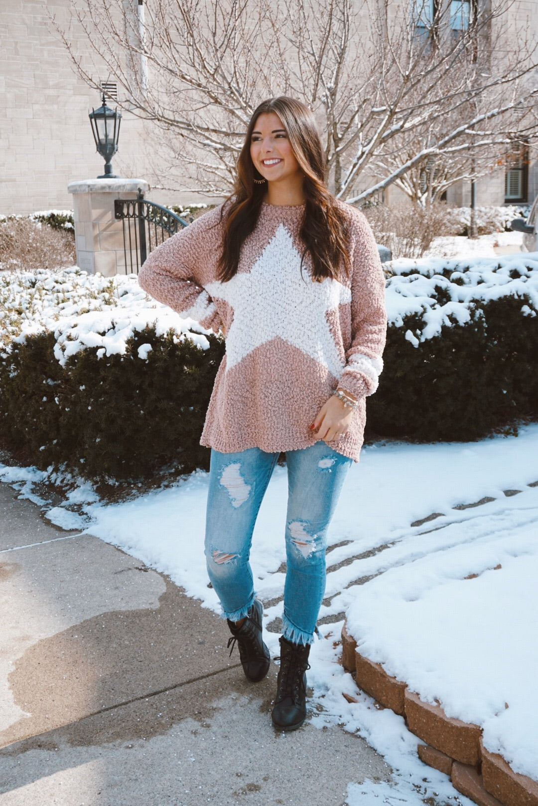 Starstruck Taupe Textured Sweater