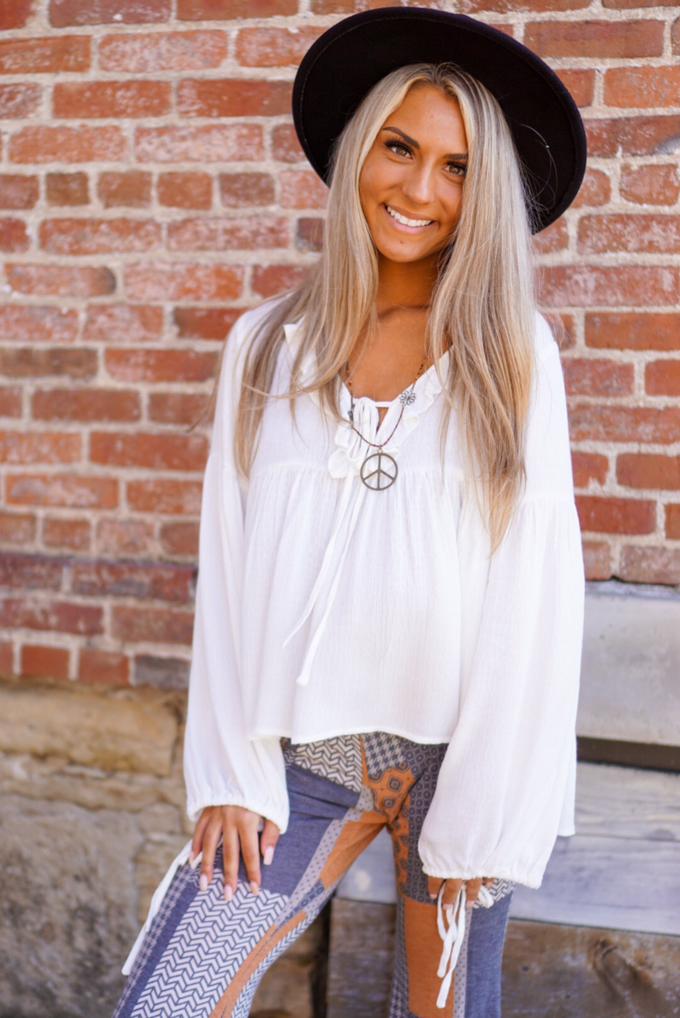 Love Story Ivory Blouse