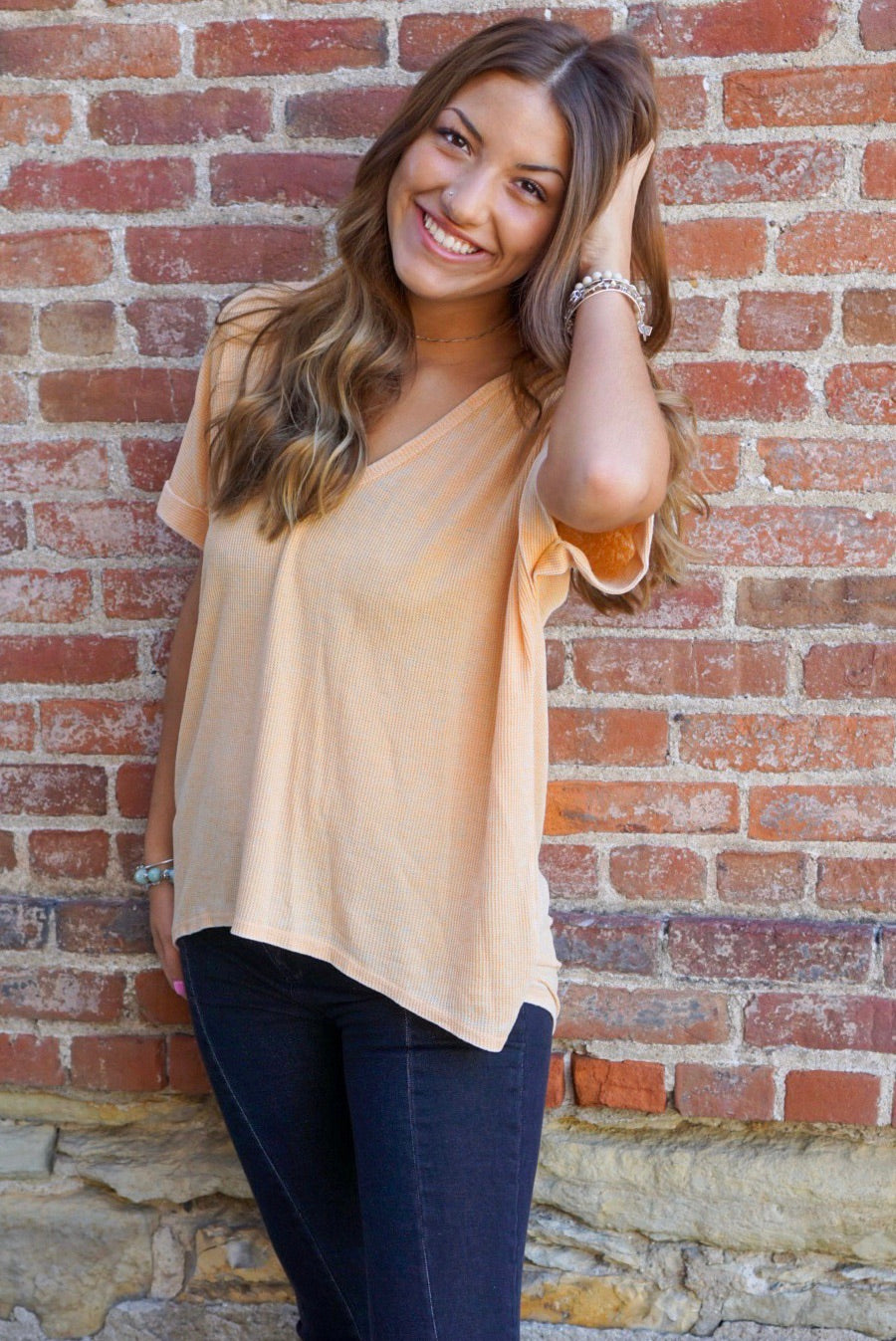 Dakota Mustard Knit Top