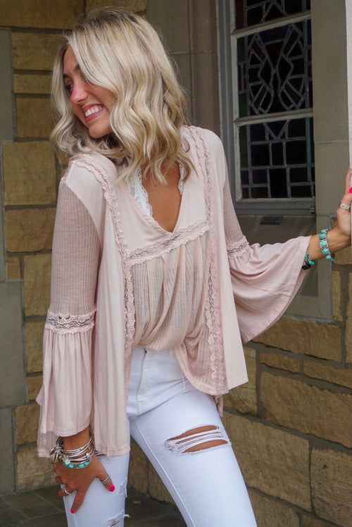 Baby Pink Lace Babydoll Top