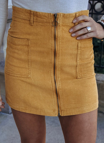 Willow Distressed Mini Skirt