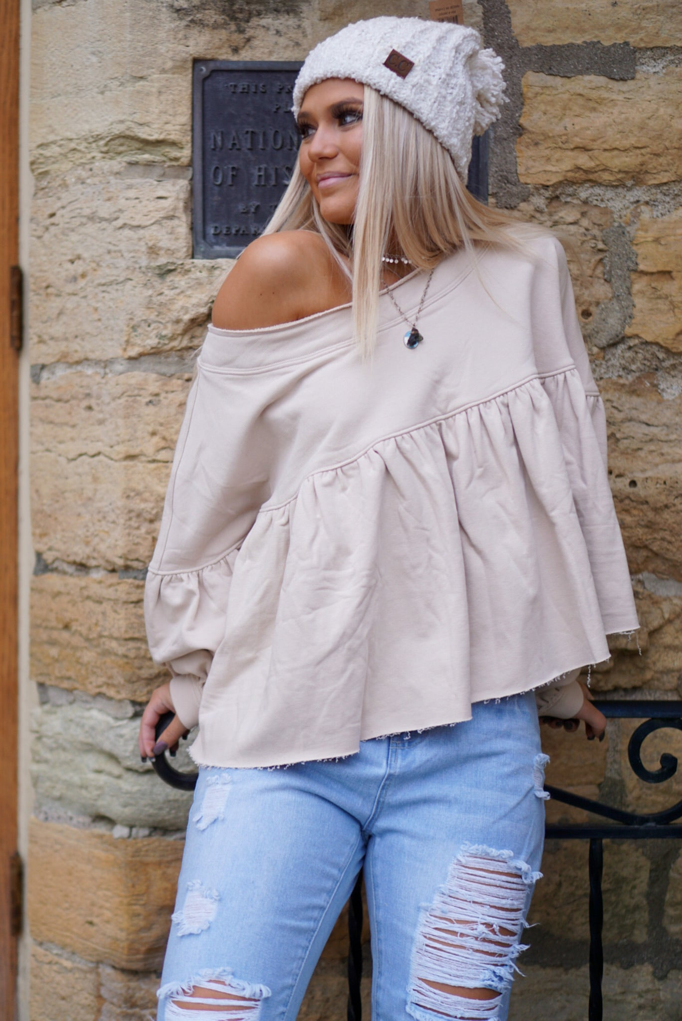 My New Obsession Taupe Top