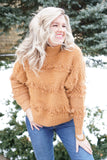 Camel Fringed Sweater
