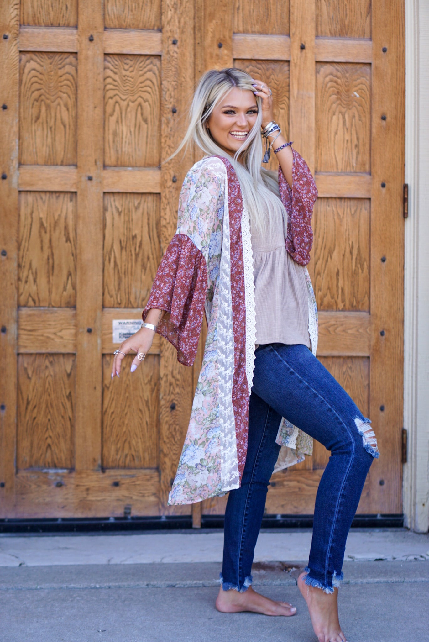 Amelie Clay Floral Duster