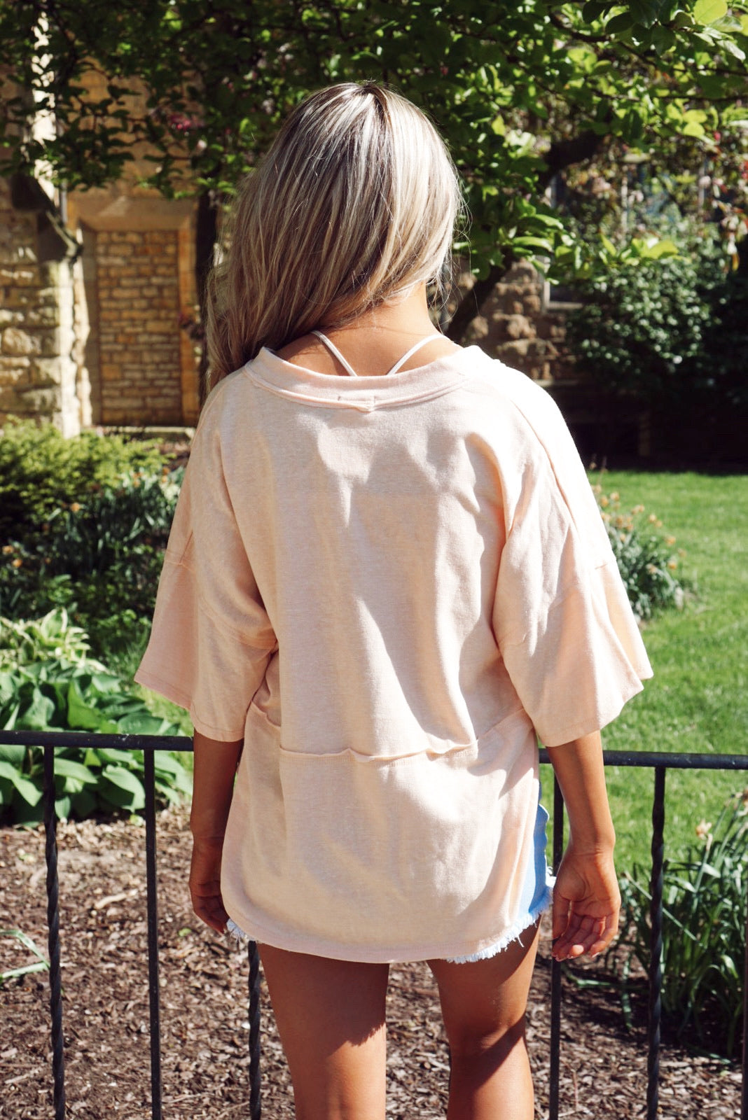 Starcrossed Peach Top