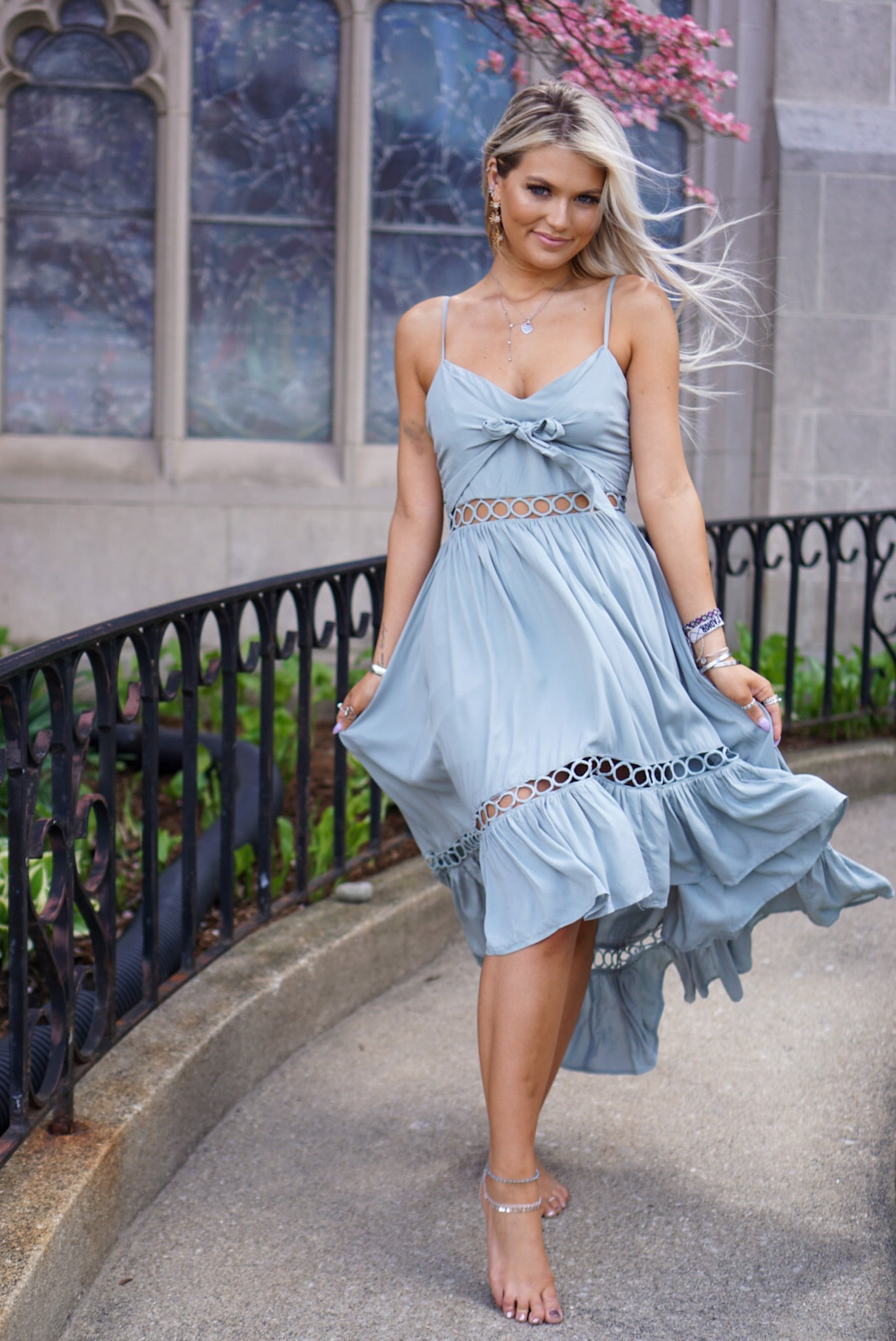 Mockingbird Dusty Sage Dress