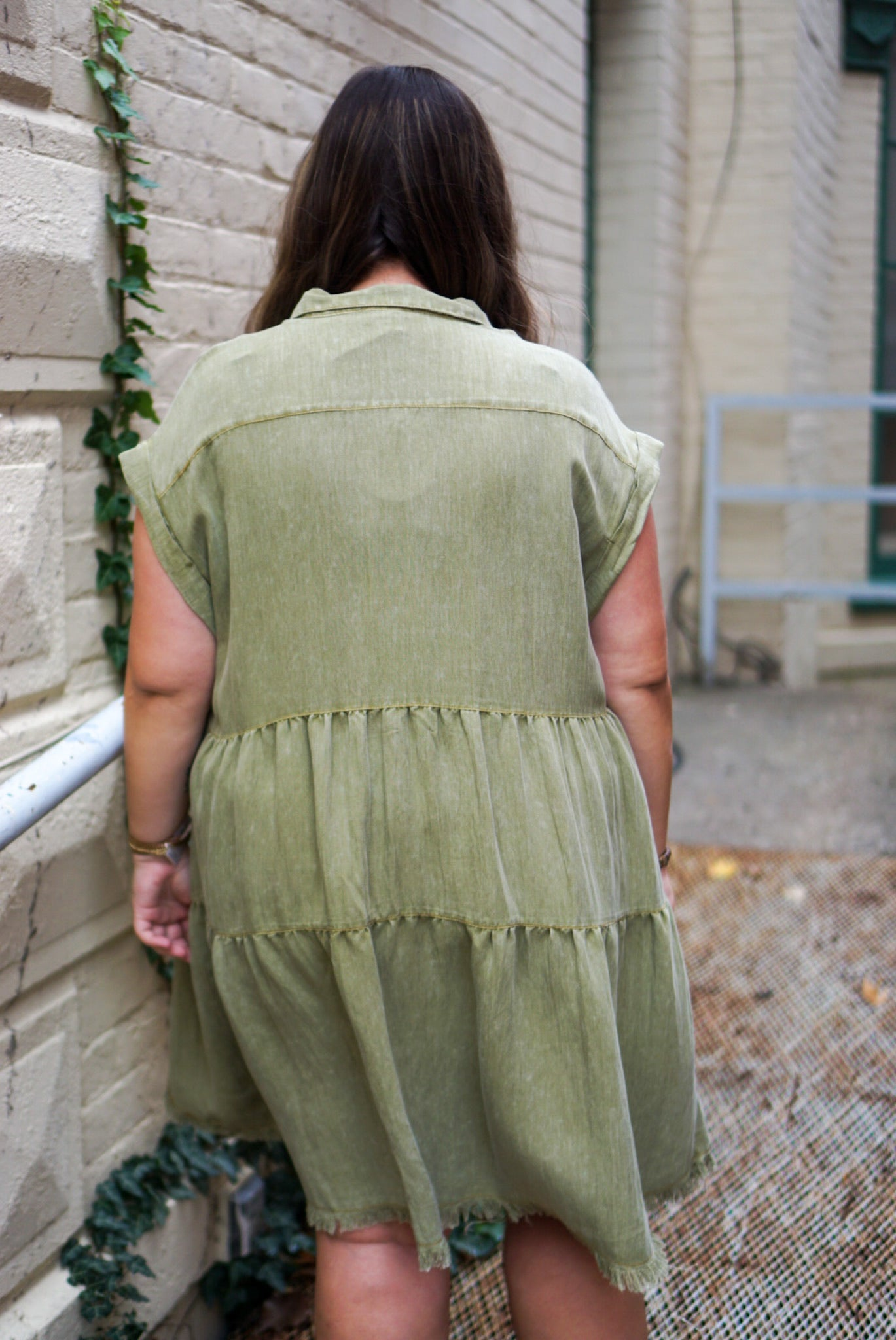 Sweet On You Curvy Olive Dress