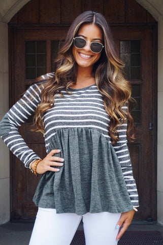Ivory Slouchy Knit Top