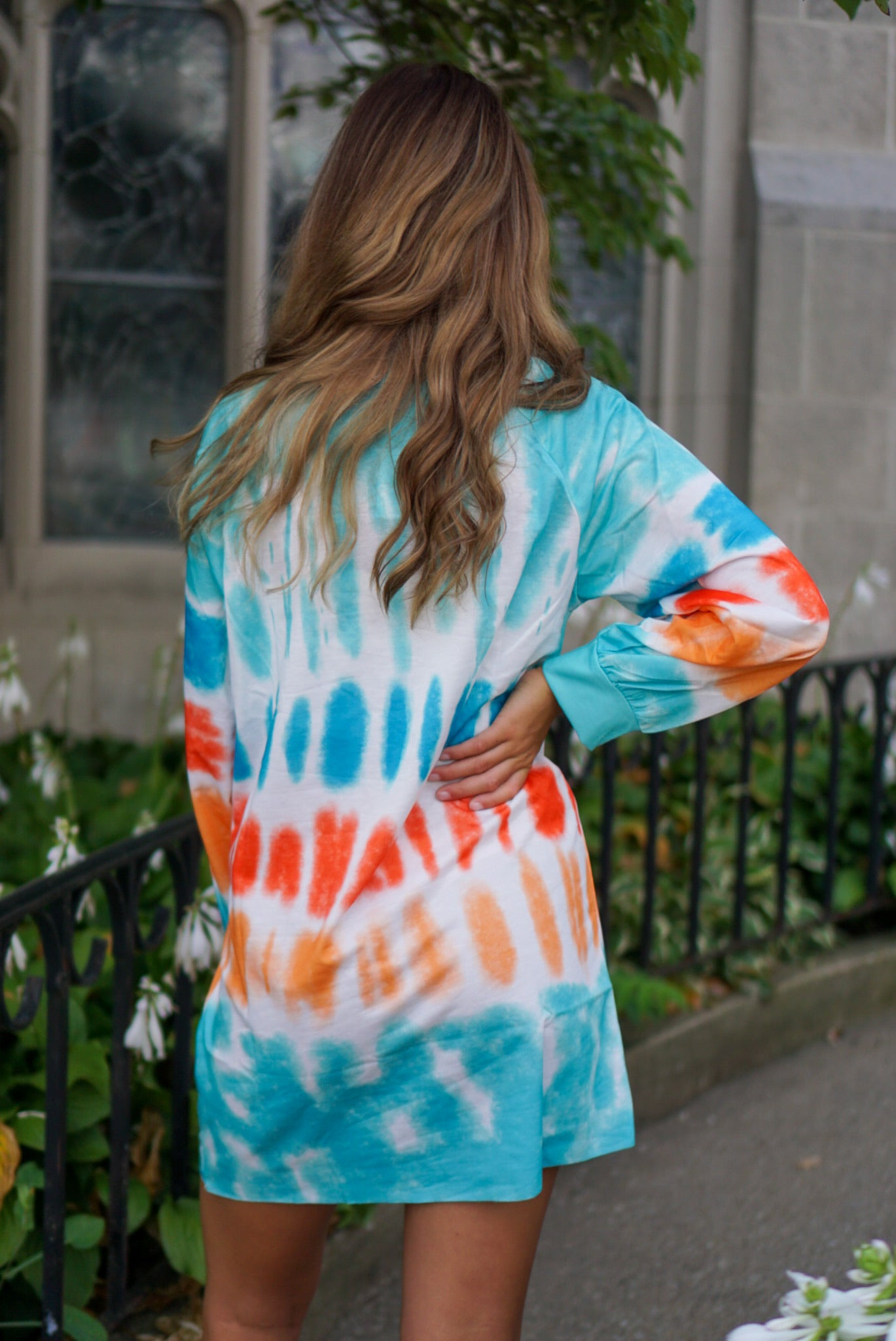 Chillax Blue Tie Dye Tunic