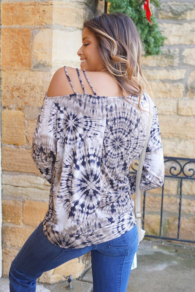 Sienna Brown Tie Dye Top